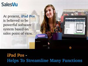 iPad Pos Helps To Streamline Many Functions