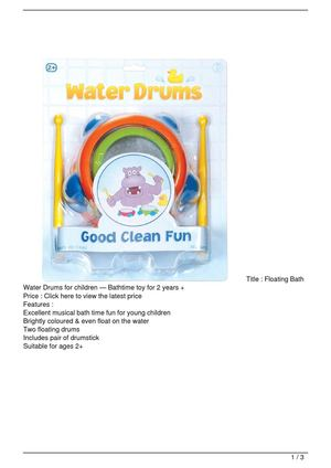 Floating Bath Water Drums for children — Bathtime toy for 2 years + Promo Offer