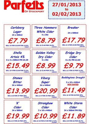Stockport 1 Week Offers 27th jan
