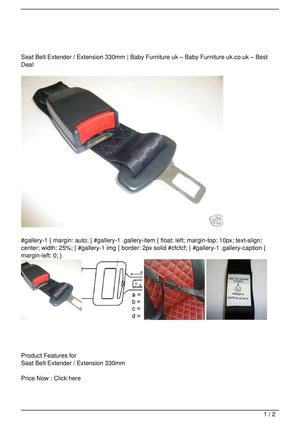 Seat Belt Extender / Extension 330mm Get Rabate