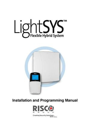 MANUAL DE INSTALACION Y PROGRAMACION LIGHT SYS RISCO