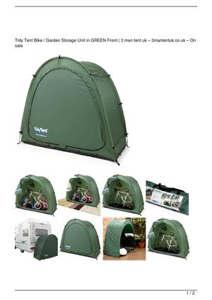 Tidy Tent Bike / Garden Storage Unit in GREEN Front Get Rabate