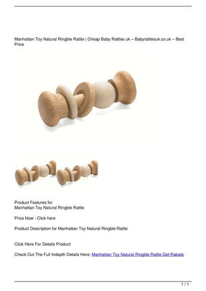 Manhattan Toy Natural Ringble Rattle Get Rabate