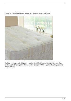 Luxury 5ft King Size Mattress Promo Offer