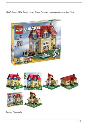 LEGO Creator 6754: Family Home Promo Offer
