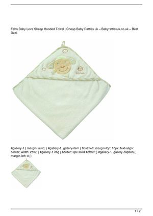 Fehn Baby Love Sheep Hooded Towel Big Discount