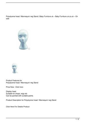 Polystyrene head / Mannequin/ wig Stand Discount !!