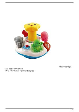 VTech Spin and Discover Ocean Fun Big SALE