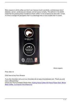 Kicking Horse Coffee 454 Horse Power Dark, Whole Bean Coffee, 12.3-Ounce Tins (Pack of 2)