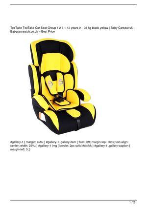 Calaméo - TecTake TecTake Car Seat Group 1 2 3 1-12 years 9 &#8211