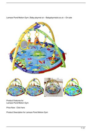 Lamaze Pond Motion Gym Discount !!