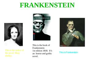 Frankenstein: 6th grade posters