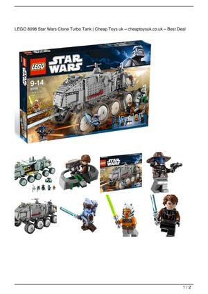 LEGO 8098 Star Wars Clone Turbo Tank On Sale