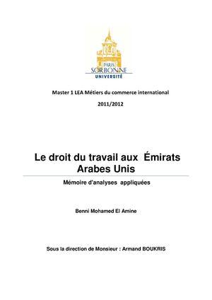 Calaméo   Le droit du travail aux Emirats arabes unis