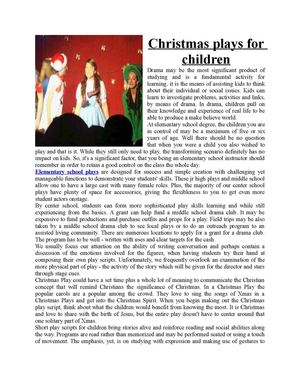 image about Free Printable Christmas Plays Church identify 107+ Small children S Xmas Performs - All Over Xmas