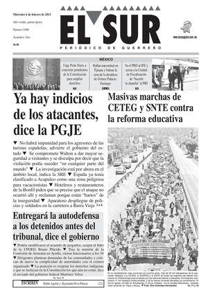 Calamo El Sur 6 De Febrero De 2013