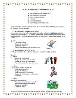 Calaméo Ejercicios De Educacion Fisica Para Preescolar