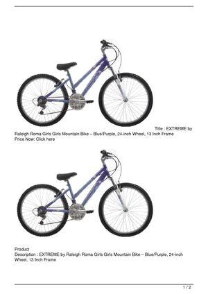 Calaméo - EXTREME by Raleigh Roma Girls Girls Mountain Bike &#8211 ...
