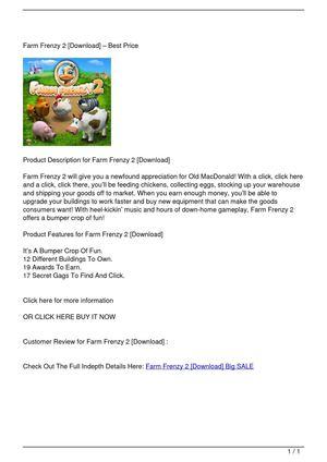 Calaméo - Farm Frenzy 2 [Download] Big SALE