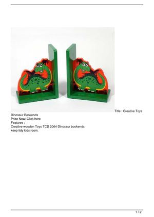 Creative Toys Dinosaur Bookends On Sale