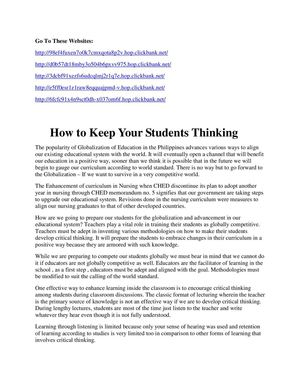 How to Keep Your Students Thinking