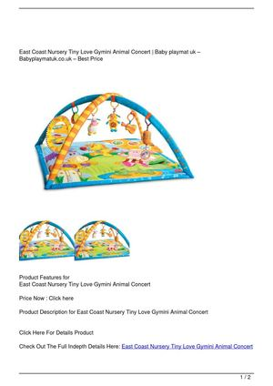 East Coast Nursery Tiny Love Gymini Animal Concert Promo Offer