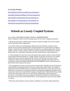 Schools as Loosely Coupled Systems