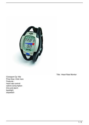 Heart Rate Monitor Ciclosport Cp 16Is Big Discount