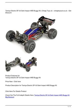 Tamiya Electric DF-03 Dark Impact 4WD Buggy Kit Big Discount