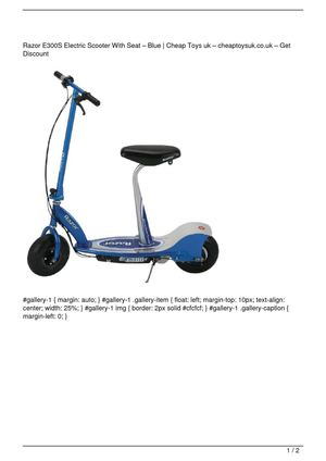 Razor E300S Electric Scooter With Seat – Blue SALE