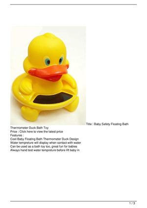 Baby Safety Floating Bath Thermometer Duck Bath Toy Big Discount