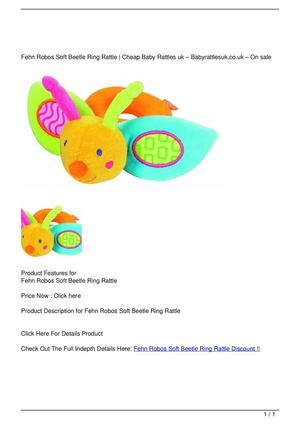 Fehn Robos Soft Beetle Ring Rattle Discount !!
