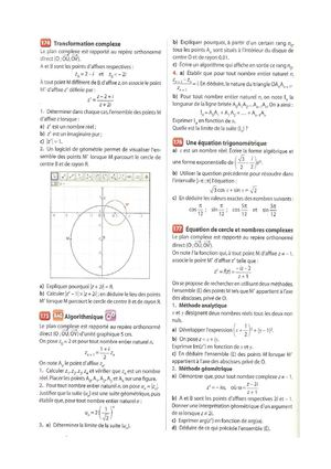 Complexes Exercices Page 262