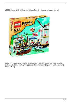 LEGO® Pirates 6242: Soldiers' Fort On Sale