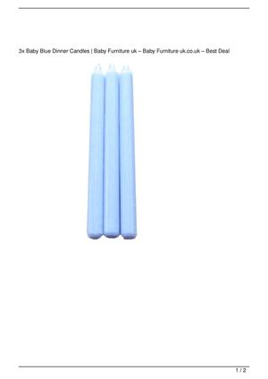 3x Baby Blue Dinner Candles Big SALE