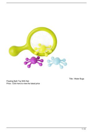 Water Bugs Floating Bath Toy With Net Promo Offer