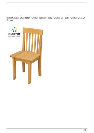 Kidkraft Avalon Chair 16621 Furniture (Natural) On Sale