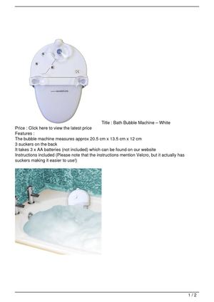 Bath Bubble Machine – White Discount !!
