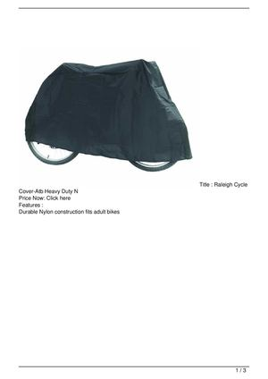 Raleigh Cycle Cover-Atb Heavy Duty N Discount !!