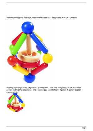 Wonderworld Spacy Rattle Promo Offer