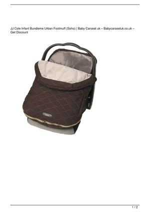 JJ Cole Infant Bundleme Urban Footmuff (Soho) SALE