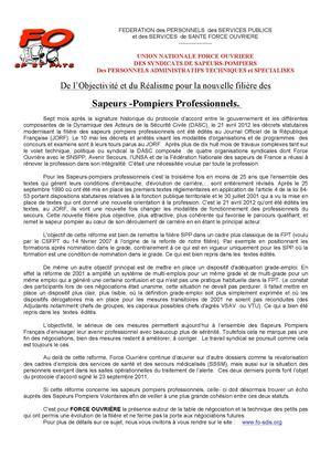 foto de Calaméo - Réforme filiere_pompiers_
