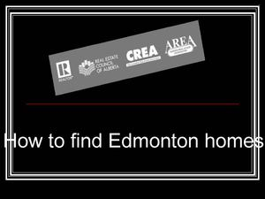 How to find Edmonton homes