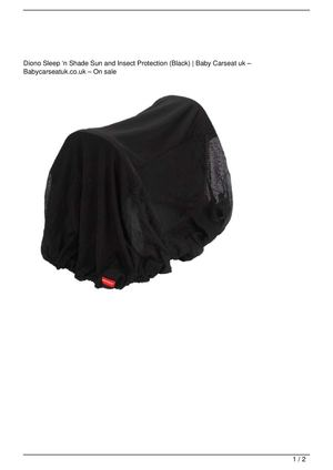Diono Sleep 'n Shade Sun and Insect Protection (Black) On Sale