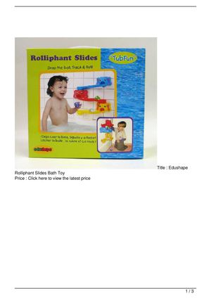 Edushape Rolliphant Slides Bath Toy Promo Offer