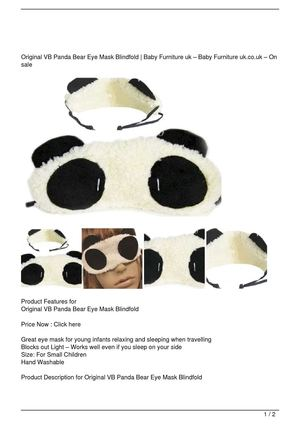 Original VB Panda Bear Eye Mask Blindfold Discount !!