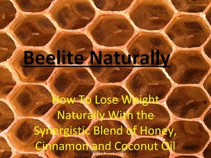 Beelite Naturally - honey cinnamon and coconut oil for weight loss
