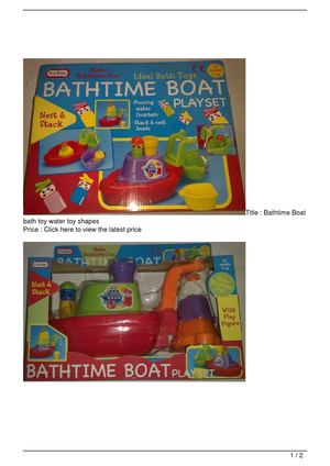 Bathtime Boat bath toy water toy shapes Big SALE