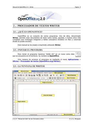 MANUAL OPEN OFFICE WRITER