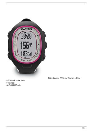 Garmin FR70 for Women – Pink SALE